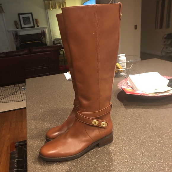 Real Leather Coach Calf-Length Boots, Never Worn